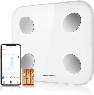 Body Fat Scale, Bascula de baño, básculas Digitales para el Peso del baño, El analizador de composición Corporal Funciona con Android y la aplicación iOS