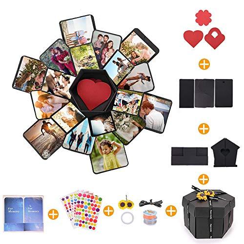 CHAOCHI Kreative Überraschung Box,Geschenkbox mit 6 Gesichtern, Explosion Gift Box Faltendes Fotoalbum DIY für Geburtstag Valentine Hochzeit