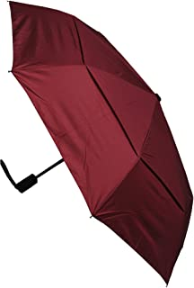 COLLAR AND CUFFS LONDON - Windproof - COMPACT YET STRONG - Folding Umbrella - Vented Canopy - Auto Open & Close Burgundy Red