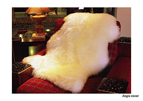 Aegis cover(TM Genuine Real Australian Single Pelt Large Sheepskin Rug(Real 2 ft+ x 3.5 ft)