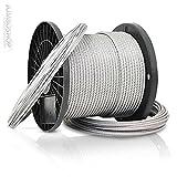 60m cable de acero 2mm 1x19 Cuerda de acero bosque...