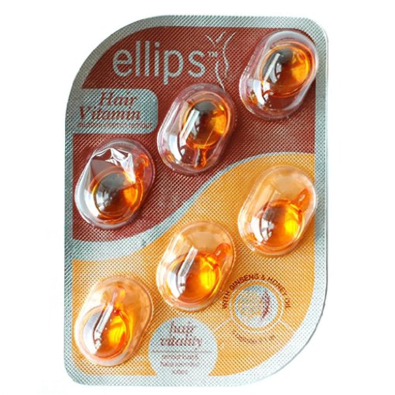 ささやき外出前任者Ellips(エリプス)ヘアビタミン(6粒入) [並行輸入品][海外直送品] ブラウン