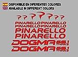 Ecoshirt SV-RM60-3YSW Pegatinas Pinerello Dogma F166 Vinilo Adesivi Decal Aufkleber Клей MTB Stickers Bike, Rojo