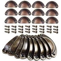 Mengger tiradores de metal muebles 24pcs pomos cocina armarios vintage Manillas Manijas para Puertas de Muebles Antiguos Armarios Tire gabinete tirador con Tornillos