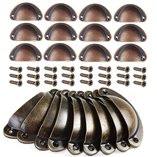 Mengger pomelli per mobili 24 PCS vintage Shell Porta Manopole del Cassetto per Maniglia Porte Armadio Pomello maniglie conchiglia Pull manopola