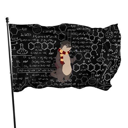 Yushang Mathematische Chemie Hintergrund Bärengarten Flaggen Hausdekorationen für drinnen und draußen, dauerhafte Hofflagge