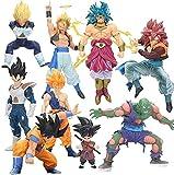 Esculturas Big7 Dragón DBZ Figura Super Saiyajin Son Gokou Gohan Vegeta Brolly Piccolo Gogeta PVC Figuras de acción Modelo Muñecas Toy Anime Figura (Color: Caja 12 cm Pequeño) -bis 12CM Goku