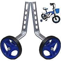 PengXiang 1 par de ruedas de apoyo para bicicleta infantil 12 14 16 18 20 pulgadas, niño, azul