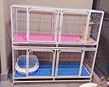At Fence | Cat Cage Bag with Wheels For Household Indoor and Outdoor, Large Cat Cage Crate, Pet Fence, Large Collapsible Cat Cage, Baby Fence with Ladder/Platform/Wheel Fence