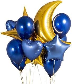 Juego de 12 Globos de decoración para Fiestas, Globos de Luna de 36 Pulgadas, Globos de Aire inflables de 18 Pulgadas con Forma de corazón, de Aluminio, para Bodas, Festivales, cumpleaños, b
