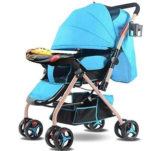 Carritos de viaje El Carro de bebé Lie Sit Super Light portátil Niño Carretilla Plegable de Cuatro Ruedas del bebé de la Compra, 80x51x101cm