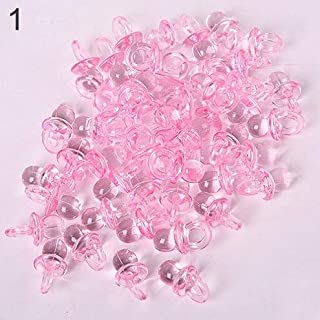 Baby Cake Decorations - Arrival 50pcs Pink Mini Pacifiers Baby Girl Boy Nipple Shower Party Favor Cake Decoration - Grass Dust Rounds Roses Birthday Holder Items Needle Siwa Orange Rotating B