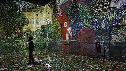Puzzel 35 Stukjes, Tentoonstelling Van Gustav Klimt In Het Digital Arts Center Of The Light Workshop, Unieke Cadeaus Voor Diy Educatief Speelgoed (15 X 10 Cm)