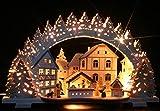3D-Räucher-Schwibbogen Weihnachtsbäckerei Exclusiv - Handarbeit aus dem Erzgebirge - Lichterbogen für Weihnachten
