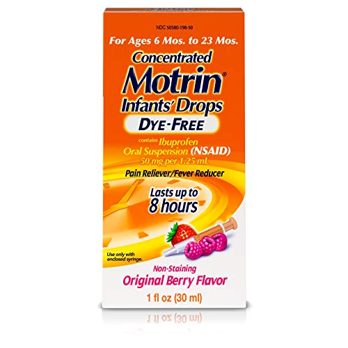 Infants' Motrin Concentrated Liquid Medicine Drops with Ibuprofen, Berry, 1 fl. oz