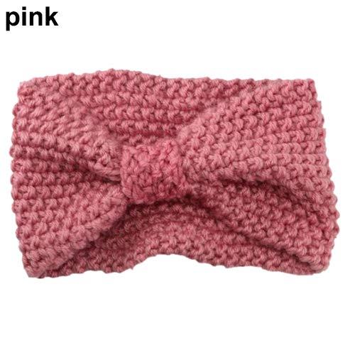 Lai-LYQ Haarband voor Vrouwen, Mode Niblet Haak Boog Gebreide Effen Kleur Haarband Winter Hoofdband voor Bruiloft Avond Party Ornament Valentijnsdag Verjaardagscadeau