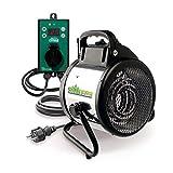 Bio Green Pal 2.0 Chauffage électrique pour Serre avec Thermostat Digital 2000 W