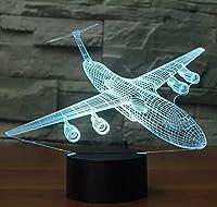 航空機3DナイトライトLED7色変化する飛行機テーブルランプUSBベビー睡眠照明寝室ベッドサイドの装飾クリスマスキッズギフト