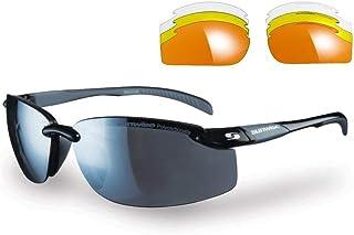 SUNWISE - Pacific - Gafas de sol deportivas para hombre, adecuadas para actividades deportivas y fines de leasing, resistente al agua y a los impactos con lente envolvente, talla única, color negro