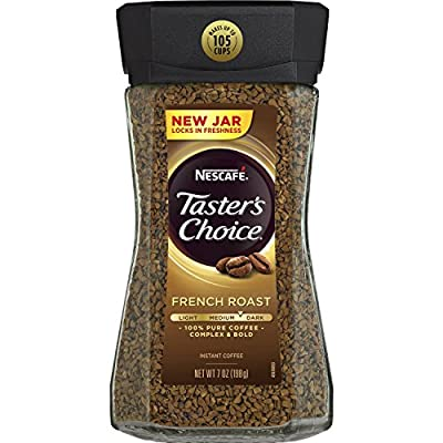 Nescafe Taster's Choice Instant Coffee, French Roast, 7 Ounce (Pack of 2)
