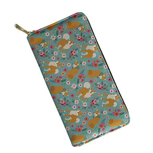 UFDIS ,  Damen Damen-Geldbörse Mehrfarbig Shiba Inu P2129 Einheitsgröße