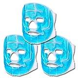 Schramm® 3er Set Kühlmasken Blau Gesichtsmaske Kühlmaske Kühlbrille Augenmaske Gelmaske...