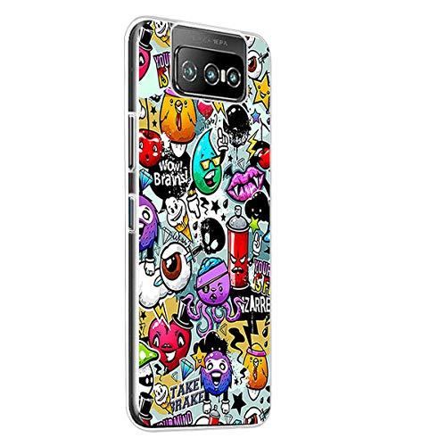 PZEMIN Hülle für Asus Zenfone 7 ZS670KS Hülle Weiche Transparent Soft Silikon TPU Bumper Handytasche Schutzhülle Tasche Schale (6.67