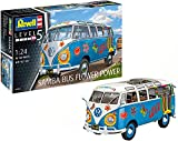 Revell Maqueta Volkswagen VW T1 Samba Bus Flower Power, Kit Modelo, Escala 1:24 (07050), 18,1 cm de Largo