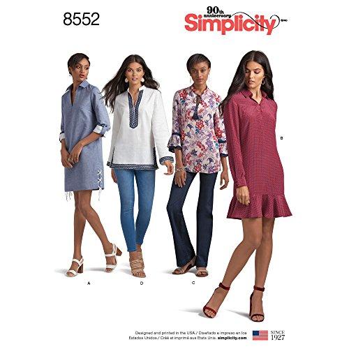 8552Simplicity Schnittmuster 8552 Damenkleid oder Tunika
