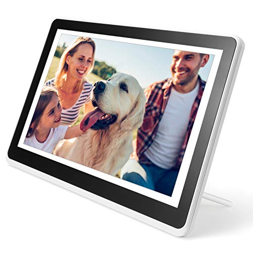Digital Picture Frame WiFi Digital Photo Frame YEEHAO 1920x1080 Touch Screen, Support Thumb USB Drive and SD Slot, Music Player, Share Photos and Videos via APP, Email (10 inch, White) Digital Frames Picture