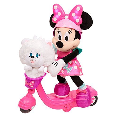 Minnie Helper Scooter 13' Feature Plush,...