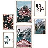 Bold Design Poster Set Nordic - 4 x DIN A4 & 2 x DIN A3 -