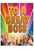 NobleWorks - Big Thank You Card for Boss (8.5 x 11 Inch) - Gratitude for Job Manager, Work Appreciation J5862TYG-US