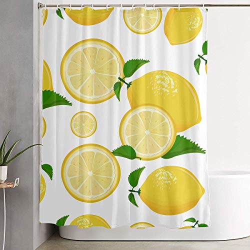 ANTOUZHE Cortina de la Ducha Juice Lemonade Grapefruit Lime Yellow Lemon Shower Curtain Bathroom Hotel Decoration