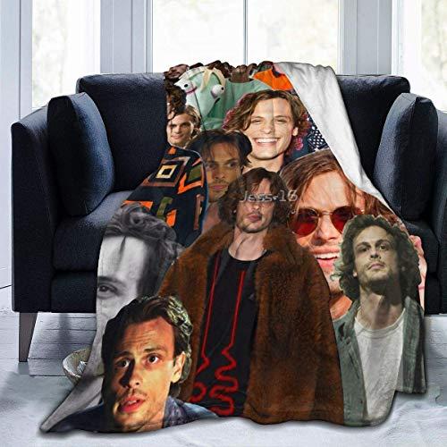 Tengyuntong Mantas para Cama, Criminal Minds - Manta de Forro Polar de Franela de Matthew Gray Gubler, Ligera, súper Suave, cálida, acogedora, Viajes de 60 x 50 Pulgadas