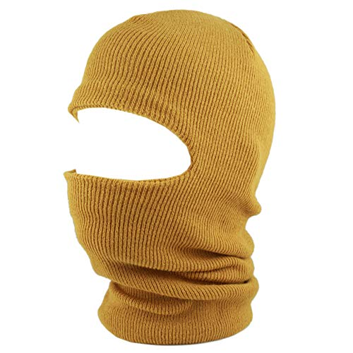 The Hat Depot Made in USA Unisex Thick and Long Face Ski Mask Winter Beanie (Timber)