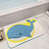 HYY-YY Alfombra de suelo para puerta de baño, antideslizante, 45 x 65 cm, diseño de ballena de cachemira