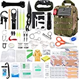 KOSIN Survival Gear and Equipment, 500 Pcs Survival First Aid kit, Fishing Gifts for Men Dad Boy Fathers Day, Trauma Bag Compatible Outdoor Tactical Gear Molle Pouch for Camping Hunting Hiking