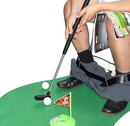 Amasawa Mini-Golf de Toilettes,Mini-Golf pour Toilettes Set...