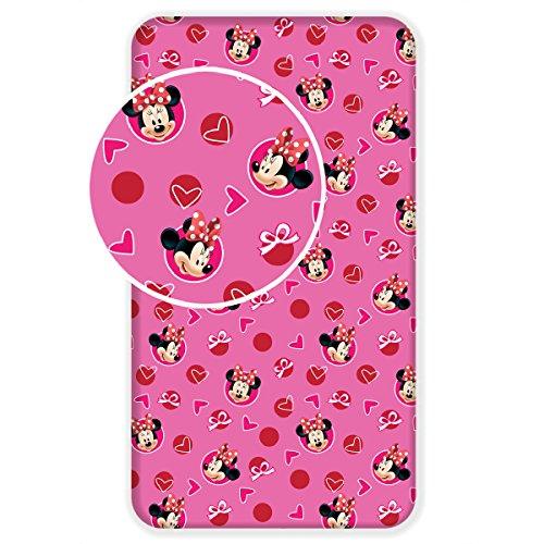 Jerry Fabrics Mickey and Friends Drap Housse, Coton, Multicolore, 200x90x25 cm