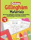 Orton Gillingham Materials. Workbook with 100 activities to improve writing and reading skills in children with dyslexia. Volume 4