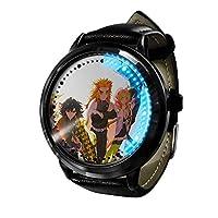 LED ウォッチコスプレアニメファッションカジュアルレザーウォッチ人気のベルト耐久性ウォッチウ 3D 防水ユニセックスギフトウォッチ