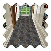 廊下の敷物の敷物のための長いランナーの敷物のための敷物のための長いラグ、台所のバスルーム、カスタムサイズのための耐摩耗性滑り止めのマット (Color : A, Size : 80x500cm)