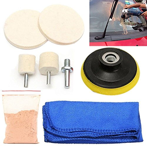 DIY Crafts Universal Car Glass Polishing Kit Windscreen Repair Window Scratch Remover Do It Yourself Kit/Set GBIN AUTOMOBILE