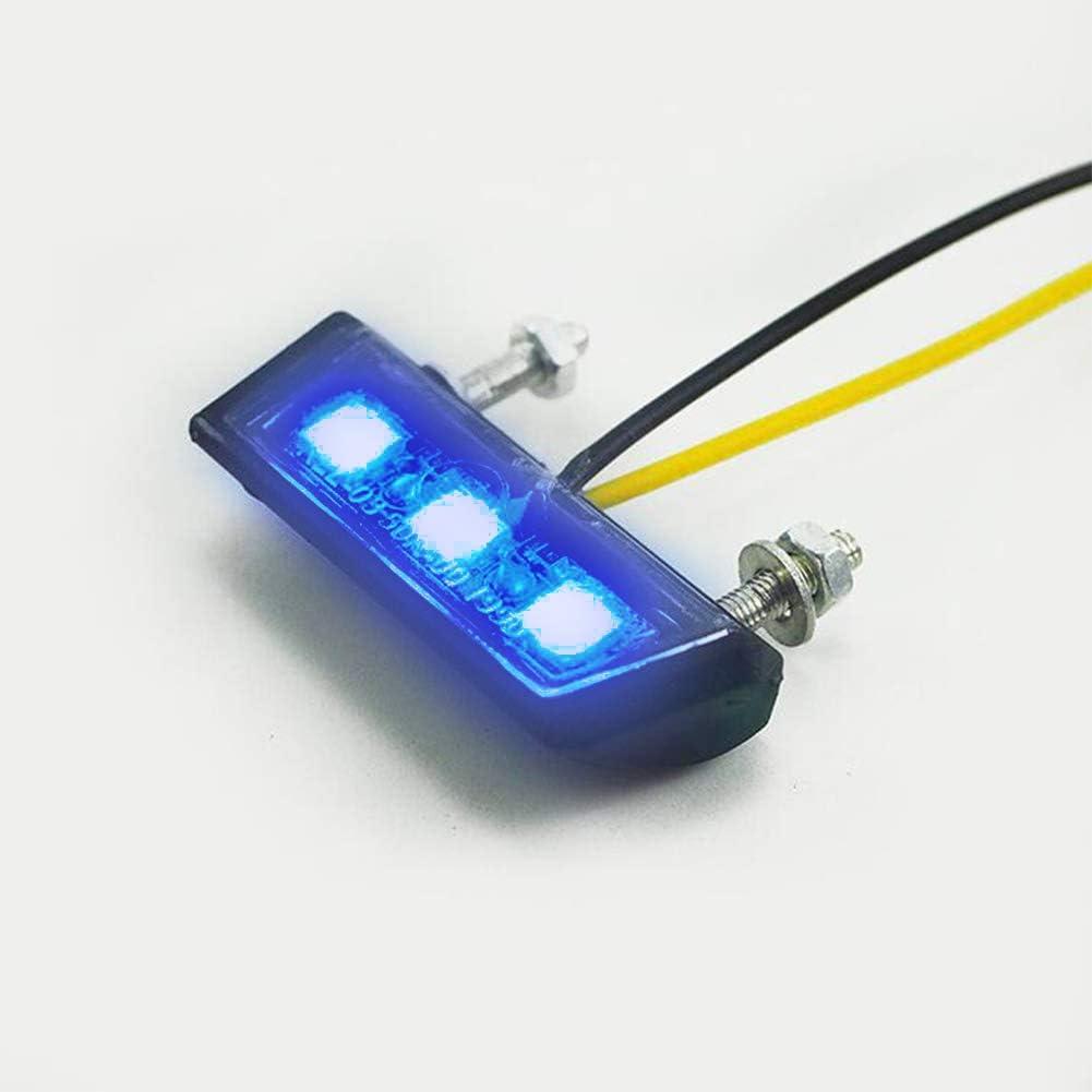 Led Kennzeichenbeleuchtung Universal Motorrad Nummernschildbeleuchtung 12v Mini Micro Kennzeichenbeleuchtung Nummernschild Beleuchtung Motorrad Blau Auto