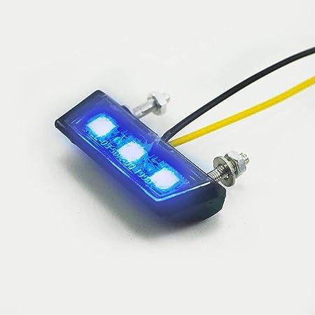 Led Kennzeichenbeleuchtung Universal Motorrad Nummernschildbeleuchtung 12v Mini Micro Kennzeichenbeleuchtung Nummernschild Beleuchtung Motorrad Gelb Auto
