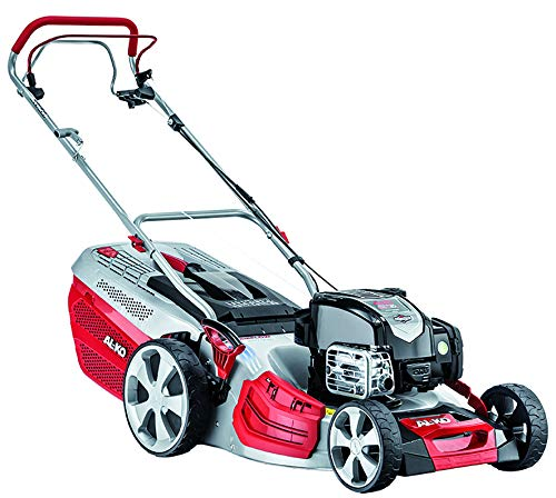 AL-KO Highline 527 SP Self Propelled Petrol Lawnmower with Cutting Width-Silver, Red, 51 cm Selbstfahrender Benzin-Rasenmäher Schnittbreite, Silber, Rot