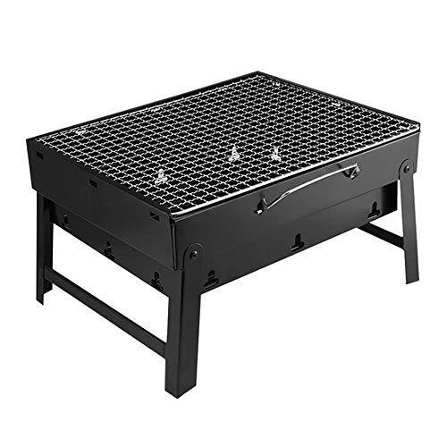 SISHUINIANHUA Folding Barbecue Grill Terrasse Grill Holzkohlegrill aus Edelstahl Outdoor-Camping-Picknick-Grill-Werkzeug Kohlegrill