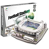 Georgie Porgy 3D Estadio de Fútbol Puzzles Juguetes de Construcción Conjuntos (Estadio Bernabeu 160pcs)
