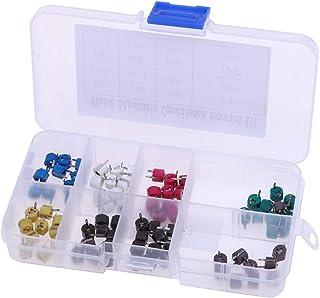Ronyme Kit Aparador de Plástico de 80 Peças com Capacitores Variáveis 5pF 120pF (8